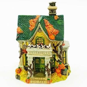 Miniature Halloween House Fall Home Decor Resin